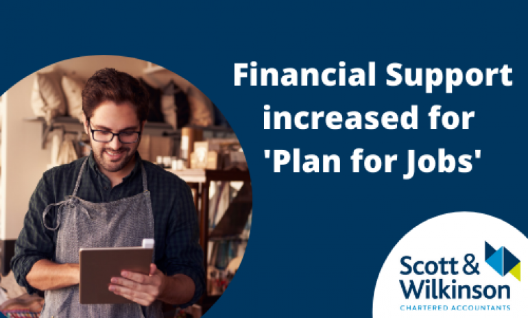 Financial Support Increased for 'Plan for Jobs'