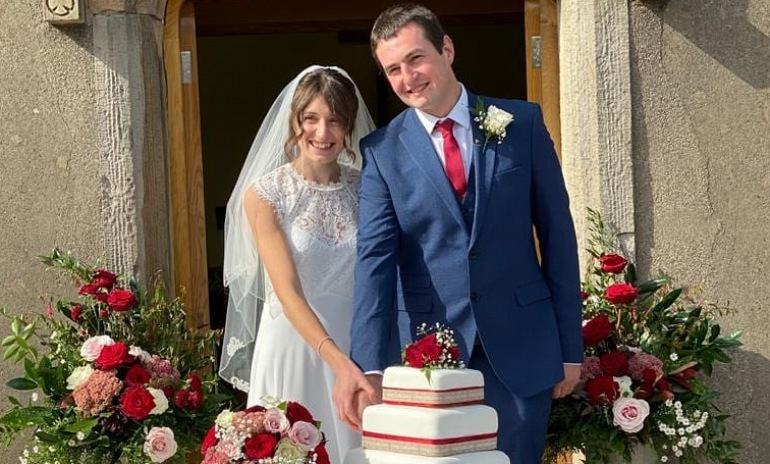 Wedding bells were ringing for our colleague Rachel Harrison